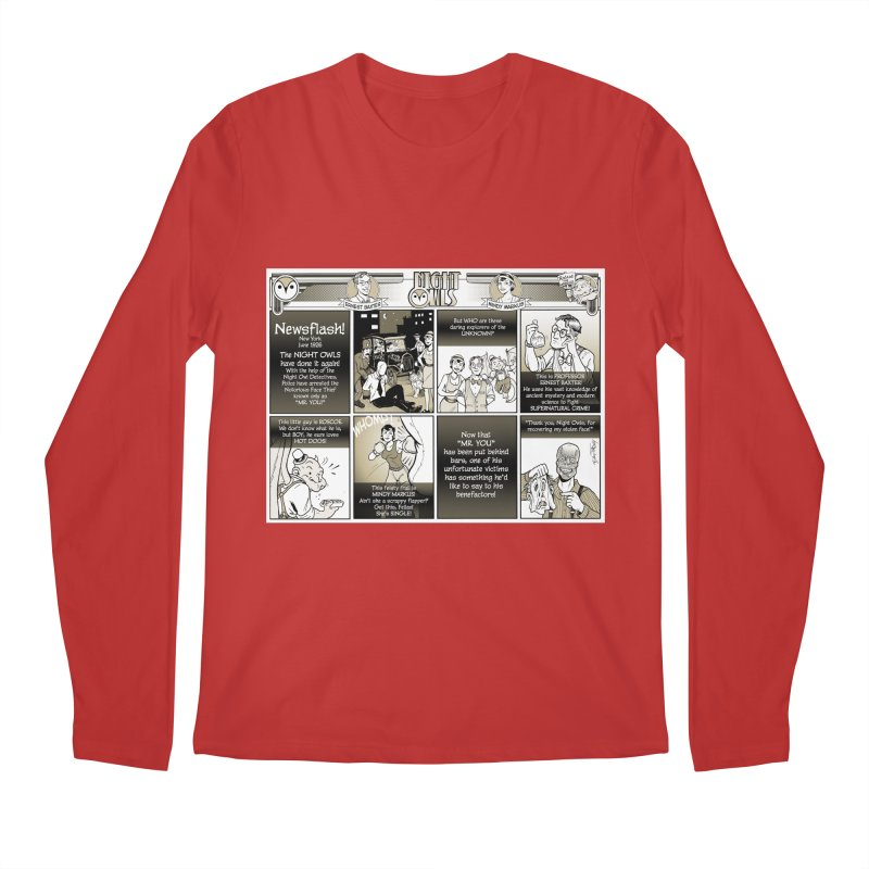 Night Owls First Appearance Men's Regular Longsleeve T-Shirt by Twin Comics's Artist Shop