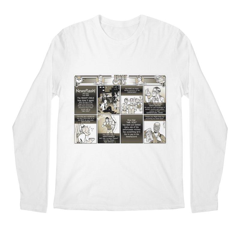 Night Owls First Appearance Men's Regular Longsleeve T-Shirt by Twin Comics's Artist Shop