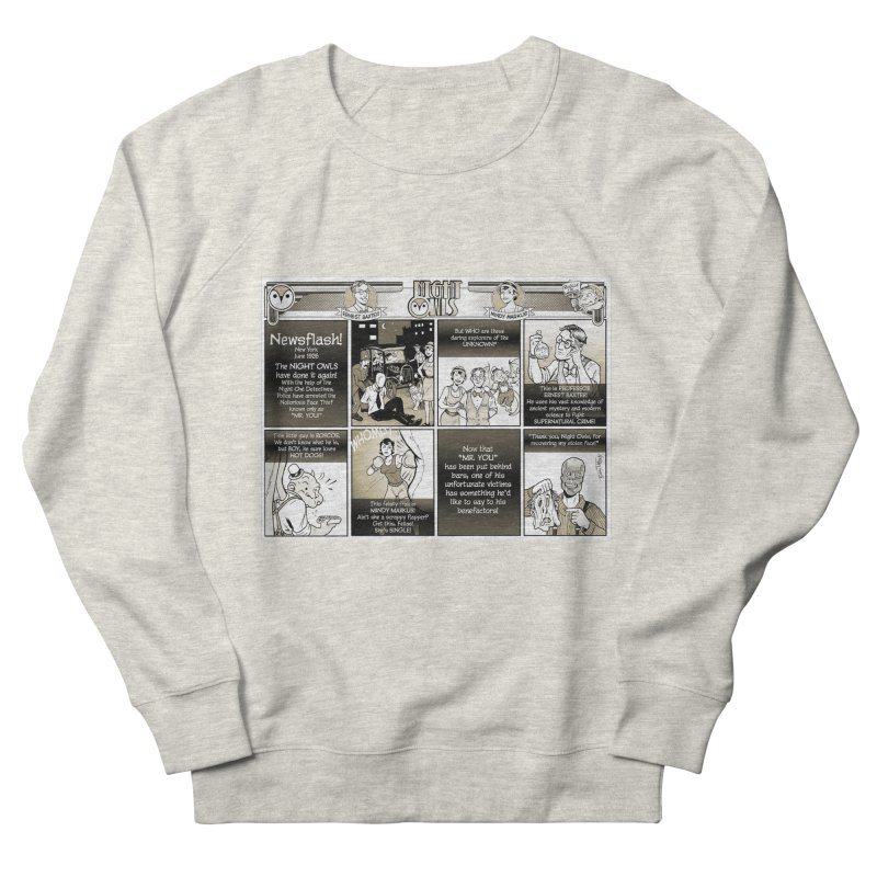 Night Owls First Appearance Women's French Terry Sweatshirt by Twin Comics's Artist Shop