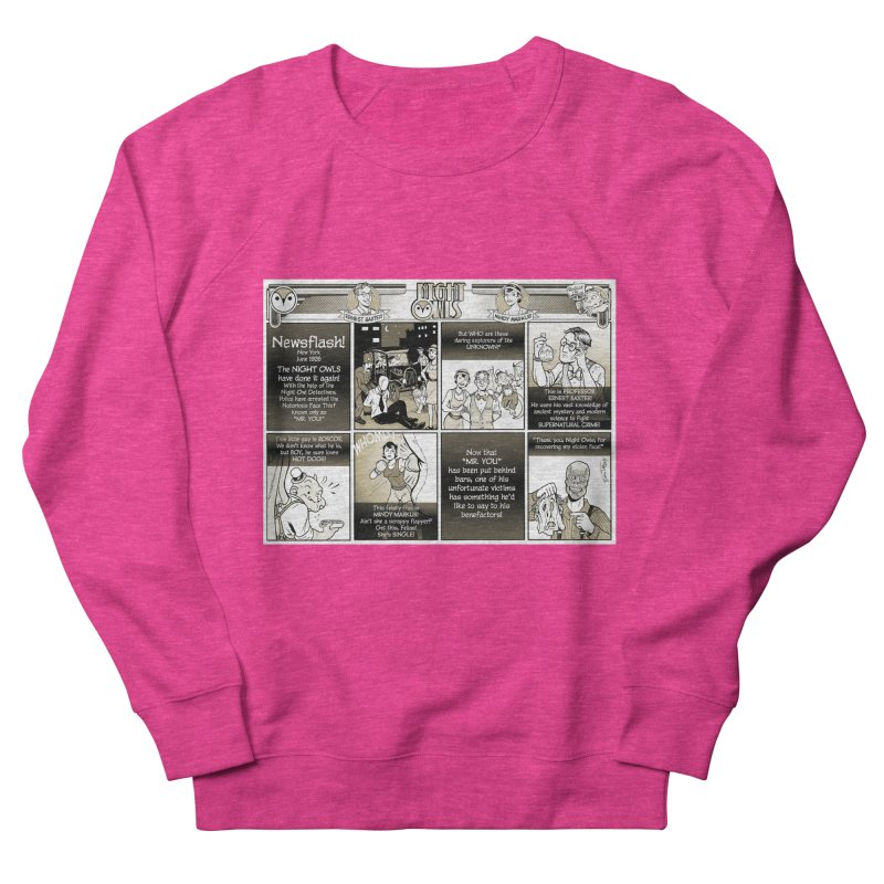Night Owls First Appearance Men's French Terry Sweatshirt by Twin Comics's Artist Shop