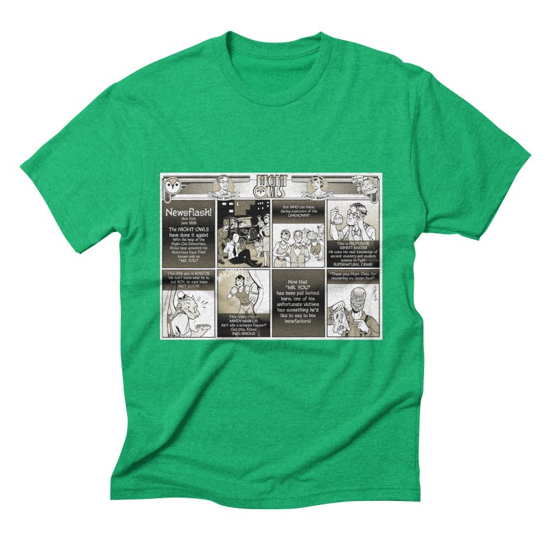 Night Owls First Appearance Men's Triblend T-Shirt by Twin Comics's Artist Shop