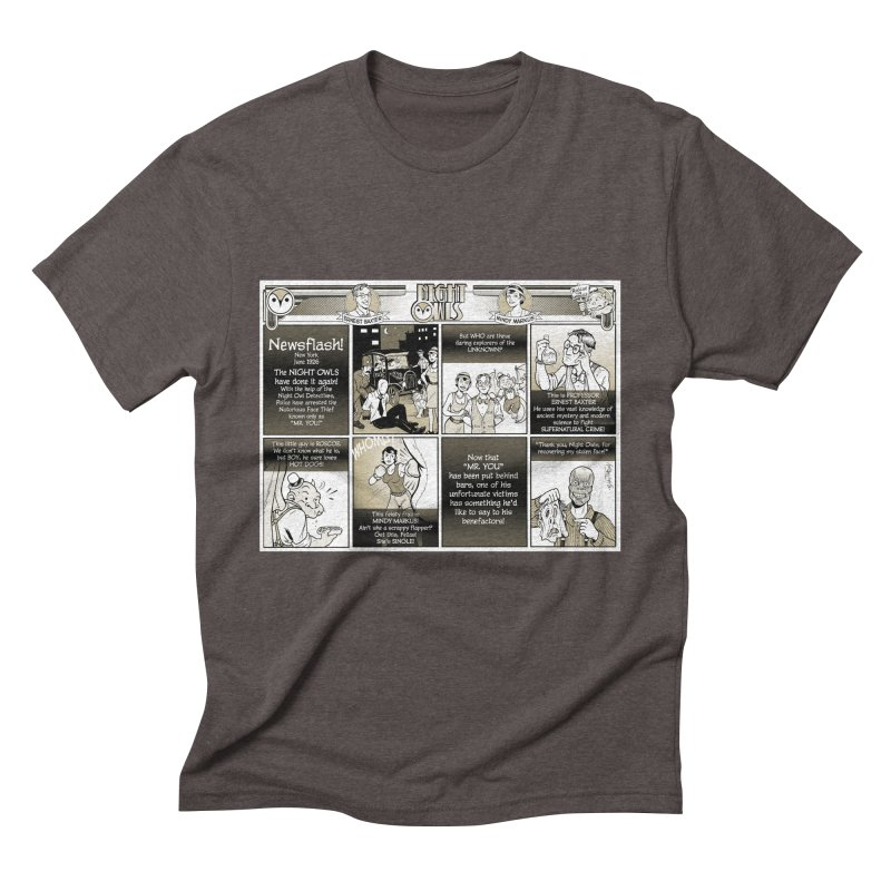 Night Owls First Appearance Men's Triblend T-Shirt by Twin Comics's Artist Shop