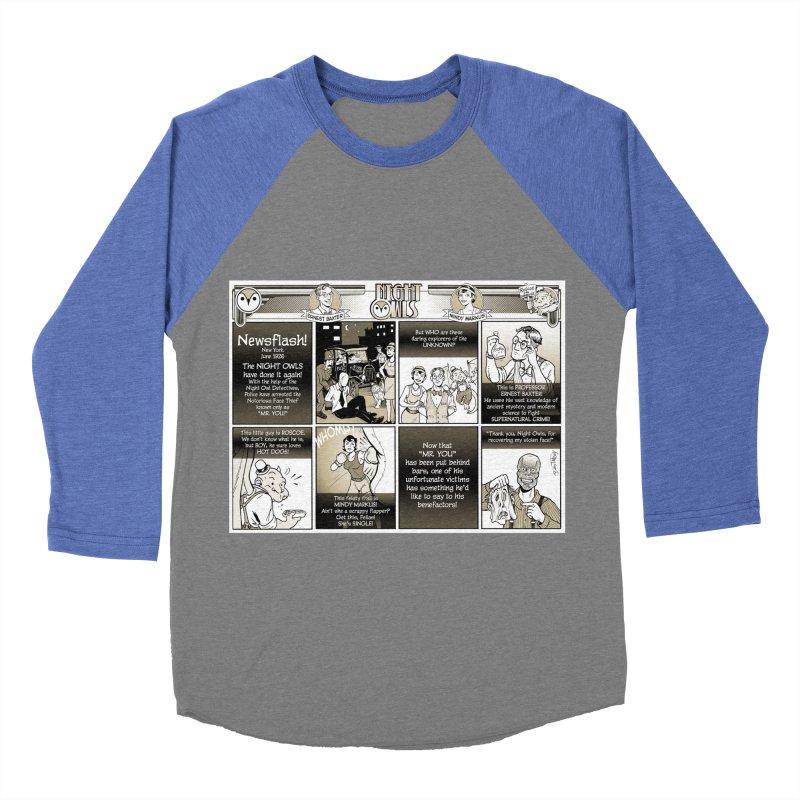Night Owls First Appearance Women's Baseball Triblend Longsleeve T-Shirt by Twin Comics's Artist Shop