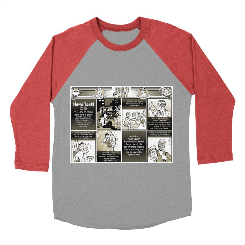 Night Owls First Appearance Women's Baseball Triblend Longsleeve T-Shirt by Twin Comics's Artist Shop