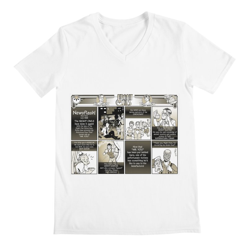 Night Owls First Appearance Men's V-Neck by Twin Comics's Artist Shop