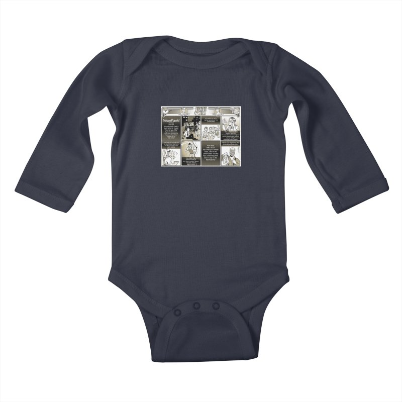 Night Owls First Appearance Kids Baby Longsleeve Bodysuit by Twin Comics's Artist Shop