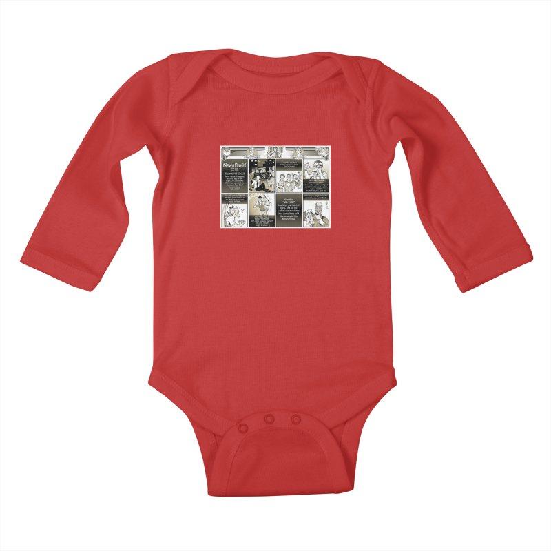 Night Owls First Appearance Kids Baby Longsleeve Bodysuit by Twin Comics's Artist Shop