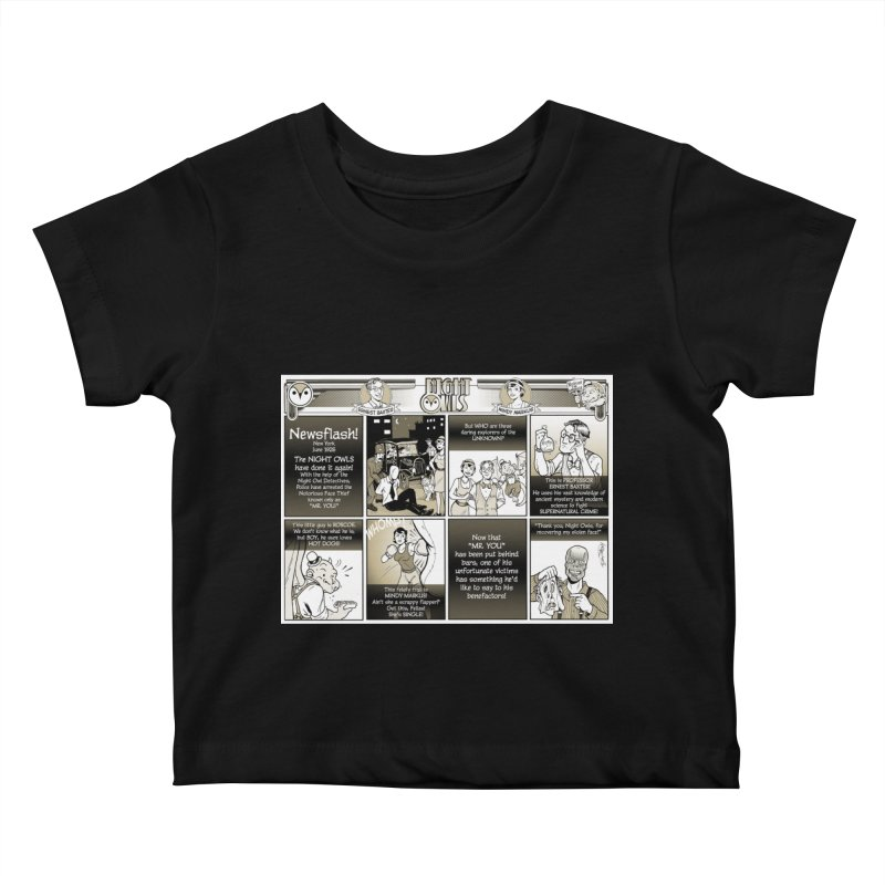 Night Owls First Appearance Kids Baby T-Shirt by Twin Comics's Artist Shop