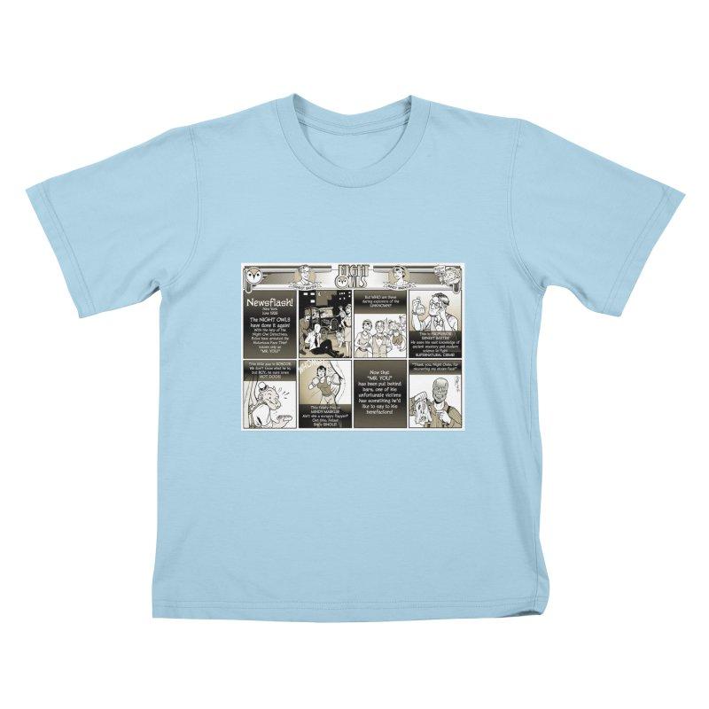 Night Owls First Appearance Kids T-Shirt by Twin Comics's Artist Shop