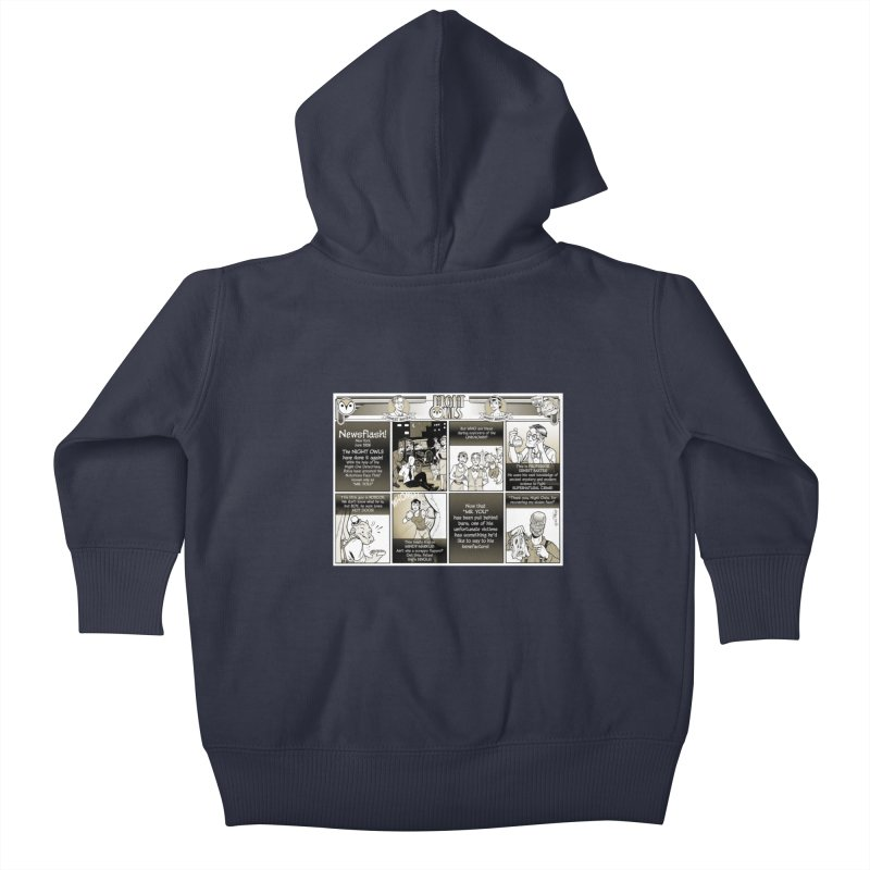 Night Owls First Appearance Kids Baby Zip-Up Hoody by Twin Comics's Artist Shop
