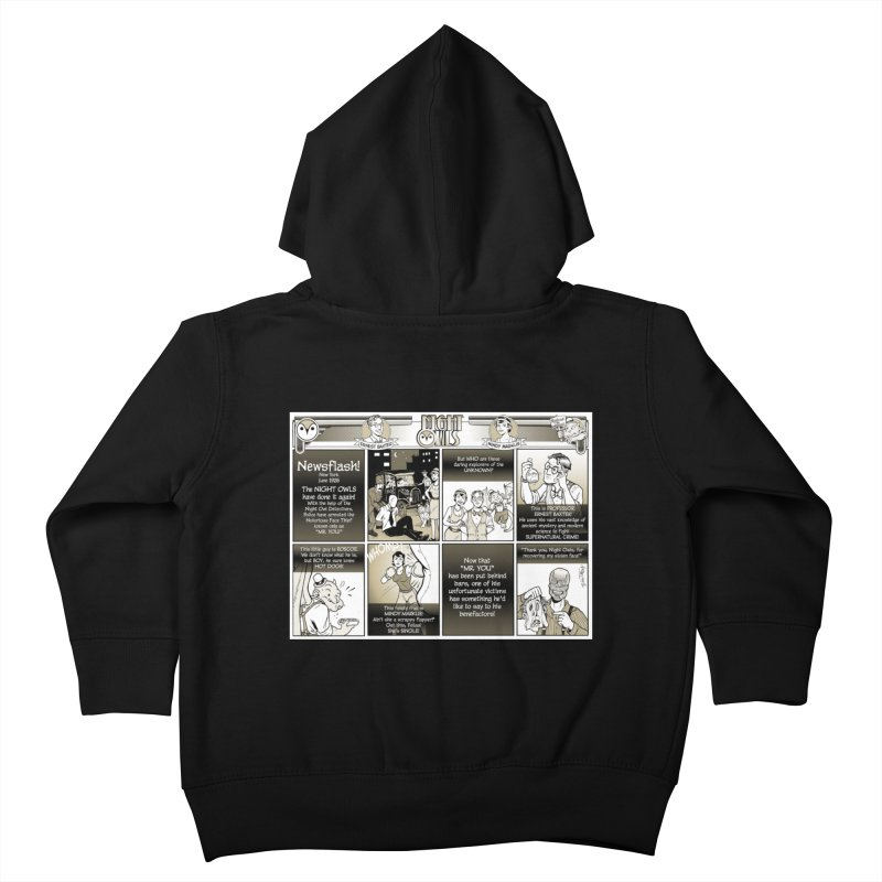 Night Owls First Appearance Kids Toddler Zip-Up Hoody by Twin Comics's Artist Shop