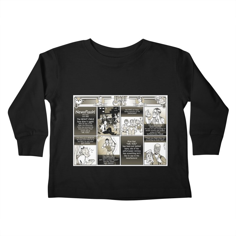 Night Owls First Appearance Kids Toddler Longsleeve T-Shirt by Twin Comics's Artist Shop