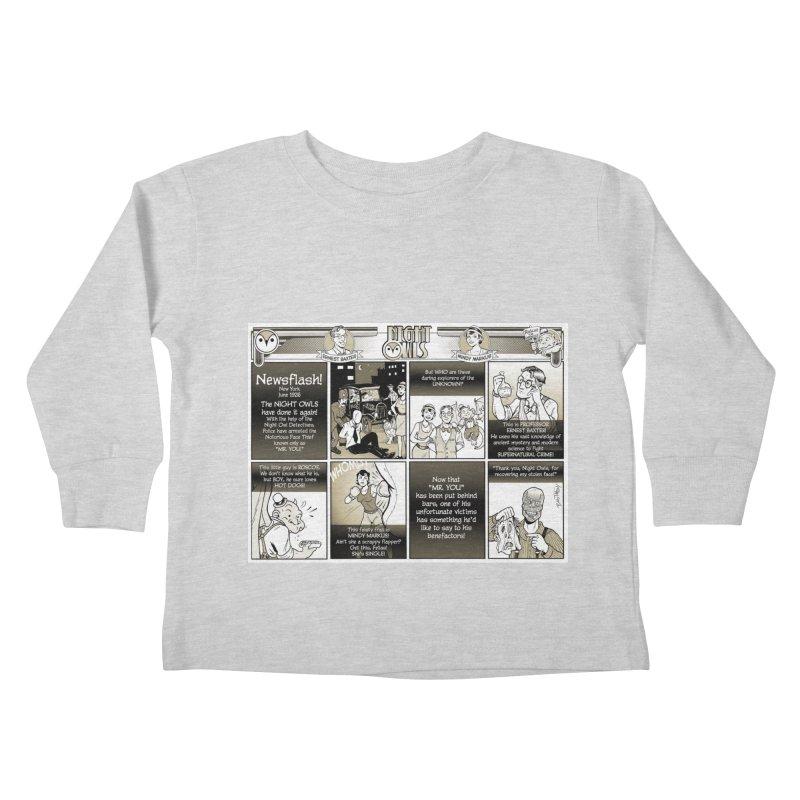 Night Owls First Appearance Kids Toddler Longsleeve T-Shirt by Twin Comics's Artist Shop