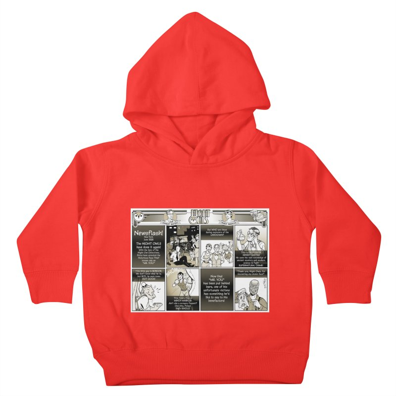 Night Owls First Appearance Kids Toddler Pullover Hoody by Twin Comics's Artist Shop