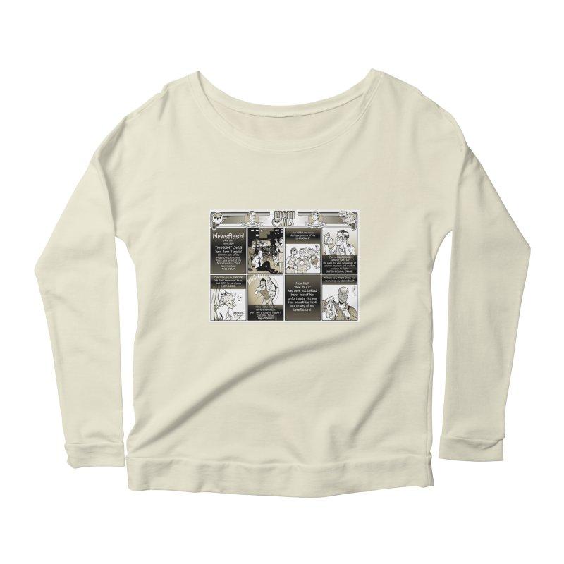 Night Owls First Appearance Women's Scoop Neck Longsleeve T-Shirt by Twin Comics's Artist Shop