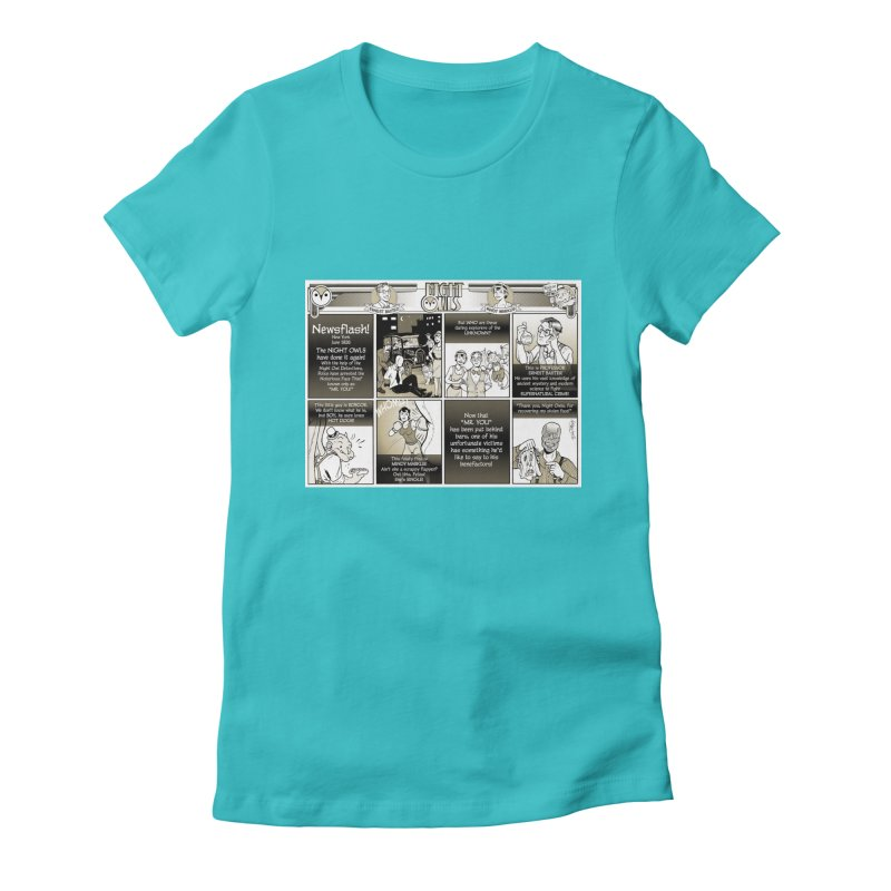 Night Owls First Appearance Women's Fitted T-Shirt by Twin Comics's Artist Shop