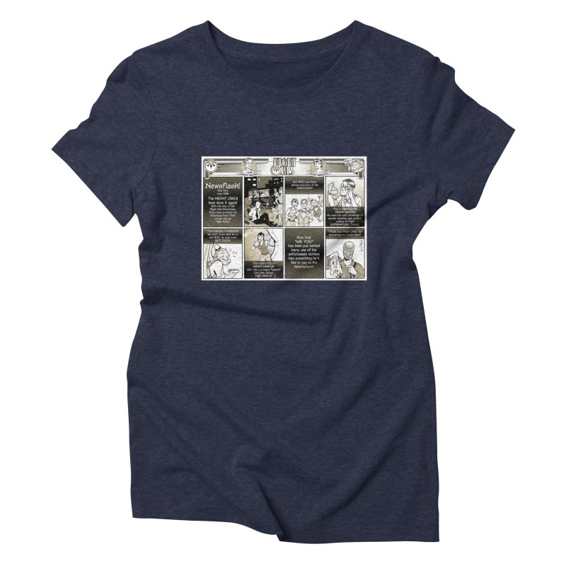 Night Owls First Appearance Women's Triblend T-Shirt by Twin Comics's Artist Shop