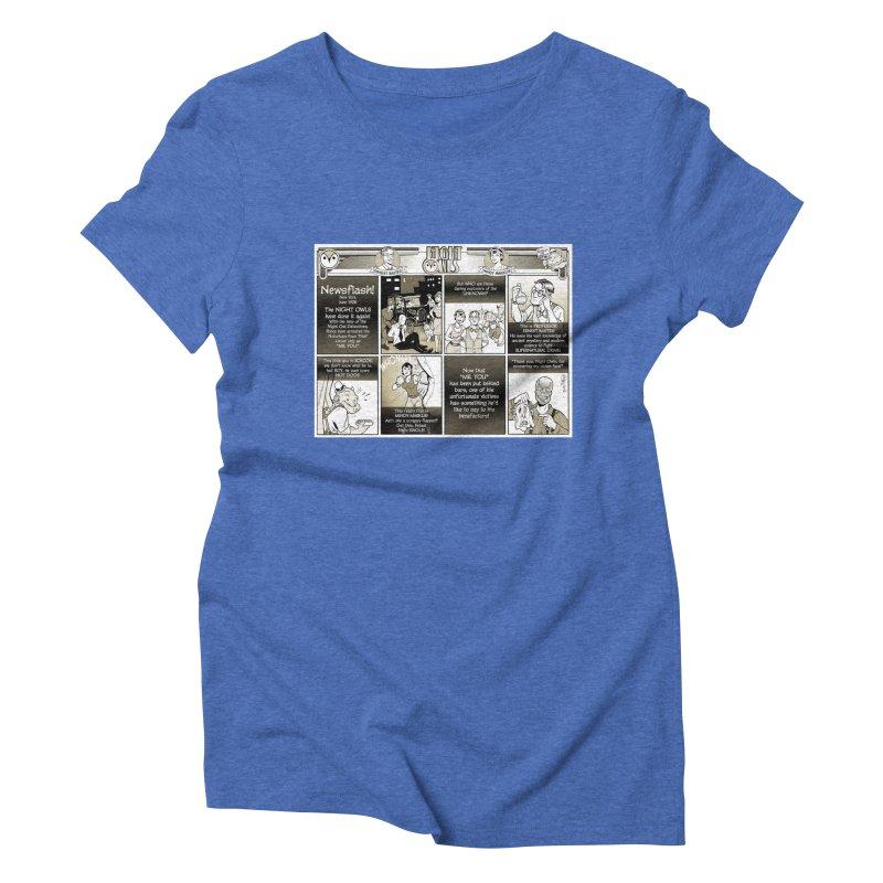 Night Owls First Appearance Women's Triblend T-Shirt by Twin Comics's Artist Shop