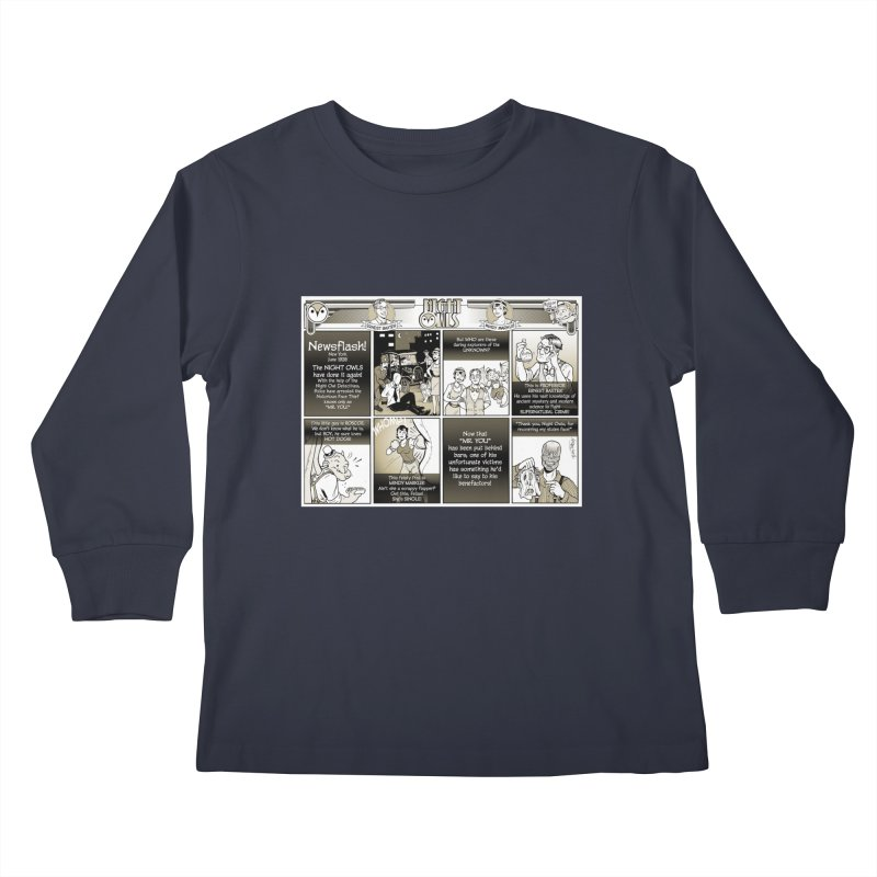 Night Owls First Appearance Kids Longsleeve T-Shirt by Twin Comics's Artist Shop