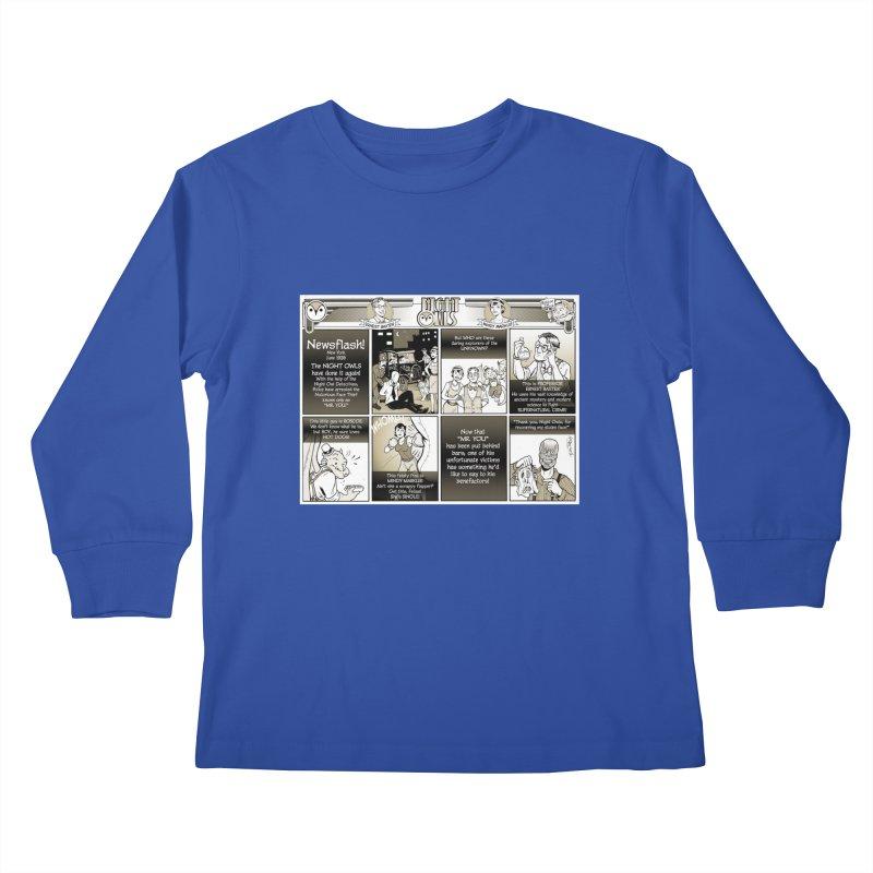 Night Owls First Appearance Kids Longsleeve T-Shirt by Twin Comics's Artist Shop