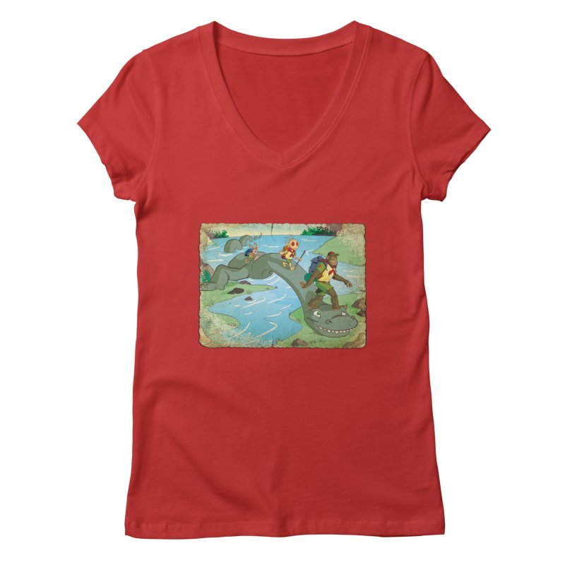 Campfire Mythology 1 Women's Regular V-Neck by Twin Comics's Artist Shop