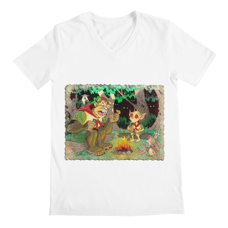 Campfire Mythology 2 Men's V-Neck by Twin Comics's Artist Shop