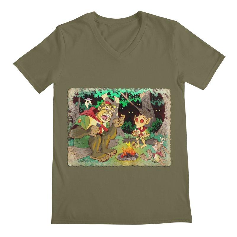 Campfire Mythology 2 Men's Regular V-Neck by Twin Comics's Artist Shop