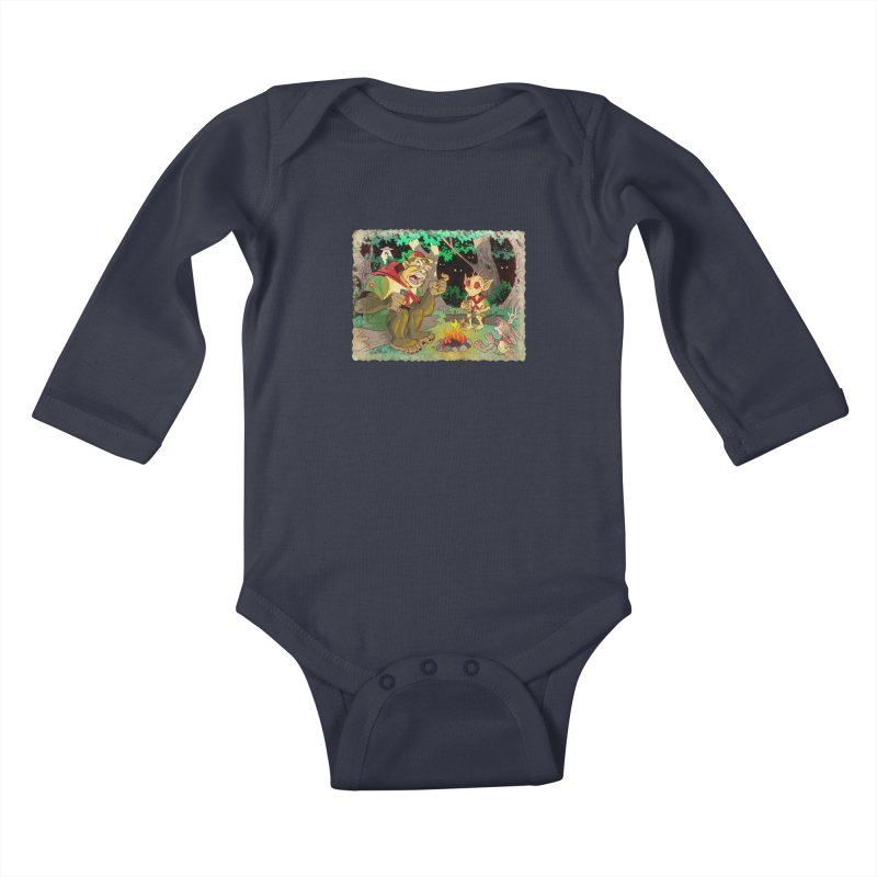 Campfire Mythology 2 Kids Baby Longsleeve Bodysuit by Twin Comics's Artist Shop
