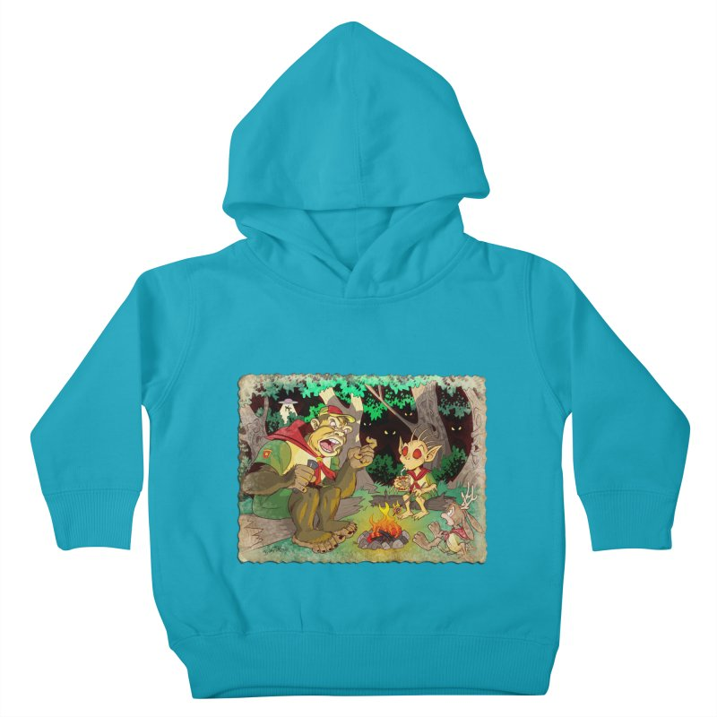 Campfire Mythology 2 Kids Toddler Pullover Hoody by Twin Comics's Artist Shop