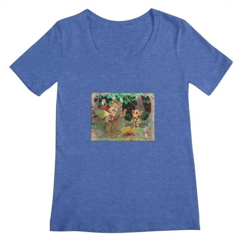 Campfire Mythology 2 Women's Regular Scoop Neck by Twin Comics's Artist Shop