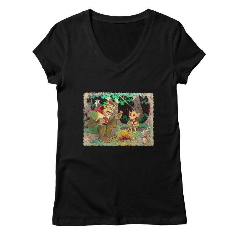 Campfire Mythology 2 Women's V-Neck by Twin Comics's Artist Shop