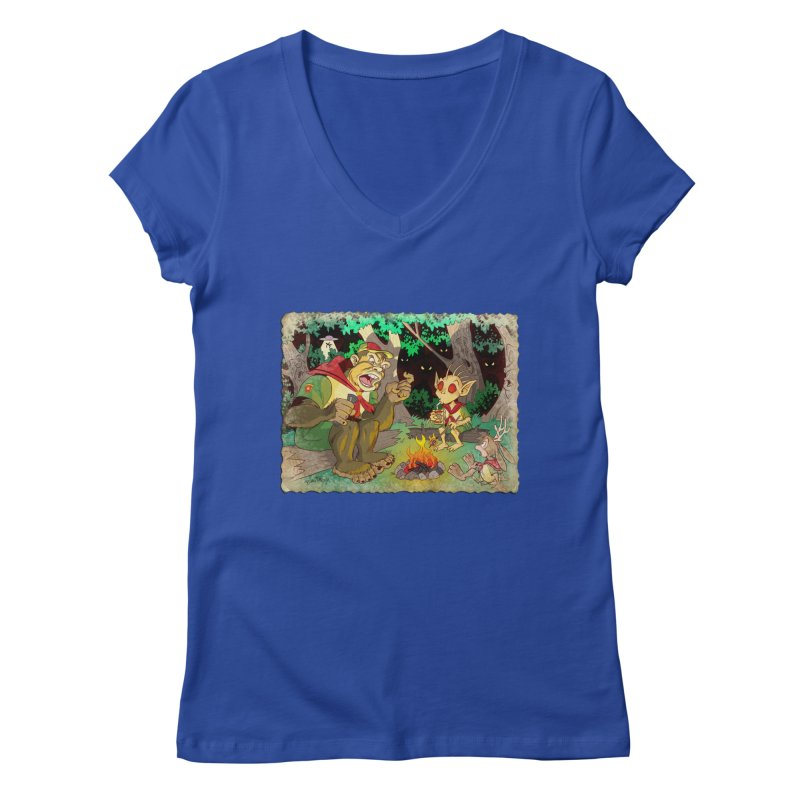 Campfire Mythology 2 Women's Regular V-Neck by Twin Comics's Artist Shop