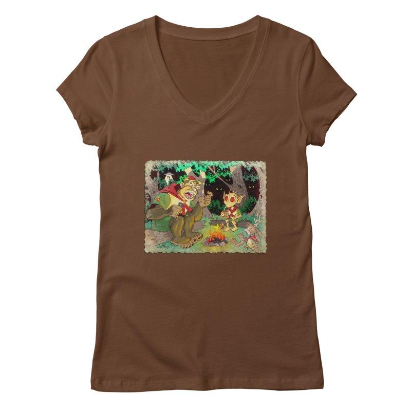 Campfire Mythology 2 Women's Regular V-Neck by Twin Comics's Artist Shop