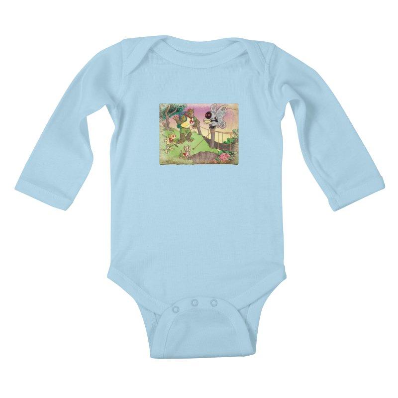 Campfire Mythology 3 Kids Baby Longsleeve Bodysuit by Twin Comics's Artist Shop