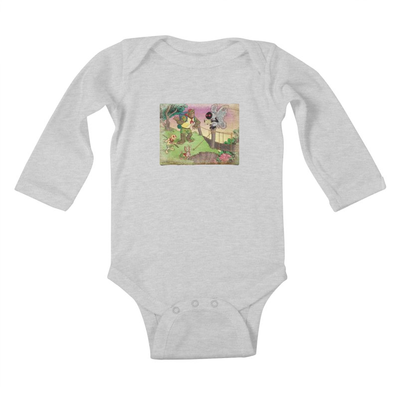 Campfire Mythology 3 Kids Baby Longsleeve Bodysuit by Twin Comics's Artist Shop