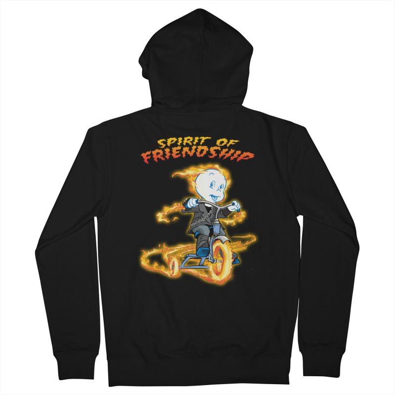 Spirit of Friendship Women's French Terry Zip-Up Hoody by Twin Comics's Artist Shop