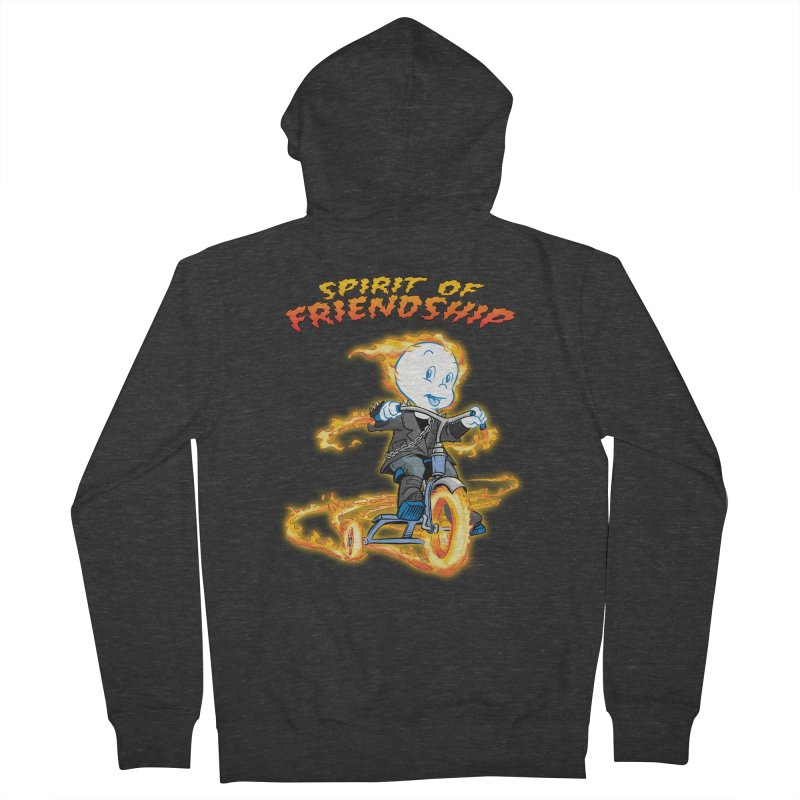Spirit of Friendship Men's French Terry Zip-Up Hoody by Twin Comics's Artist Shop