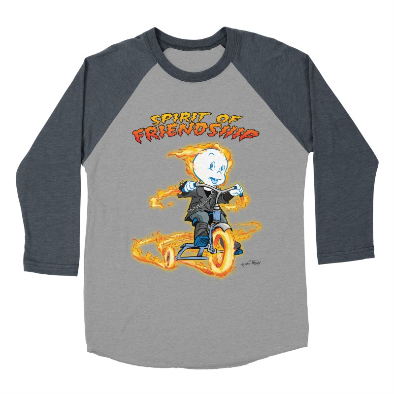 Spirit of Friendship Women's Baseball Triblend Longsleeve T-Shirt by Twin Comics's Artist Shop