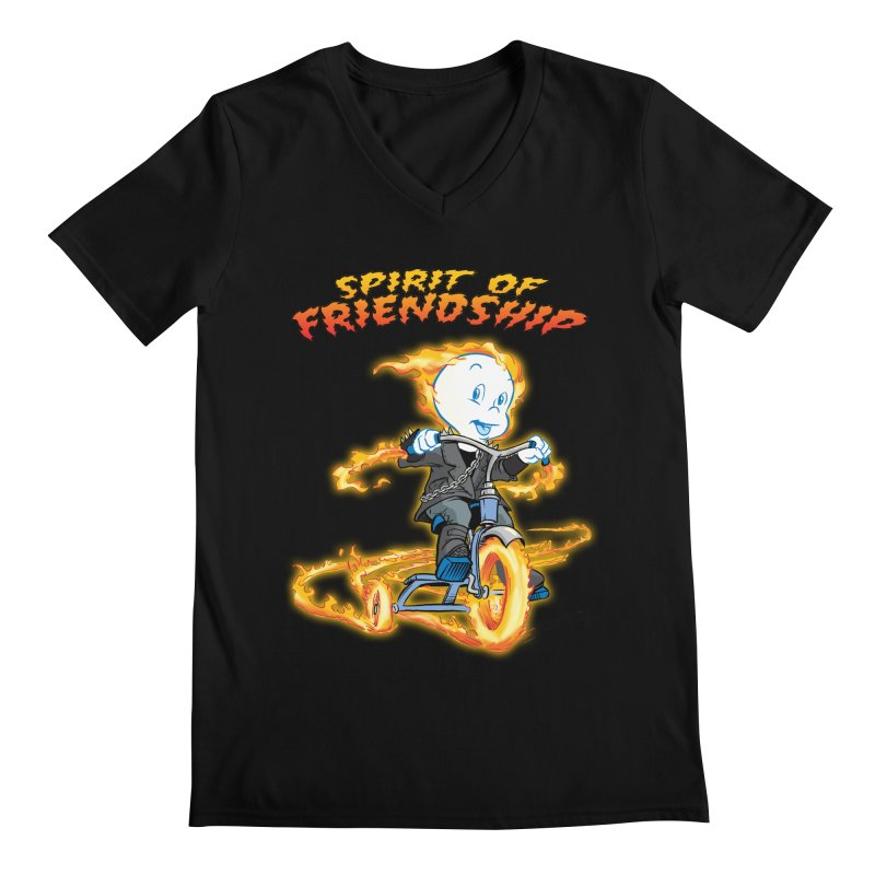 Spirit of Friendship Men's Regular V-Neck by Twin Comics's Artist Shop