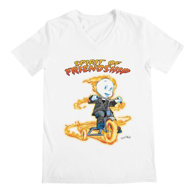 Spirit of Friendship Men's V-Neck by Twin Comics's Artist Shop