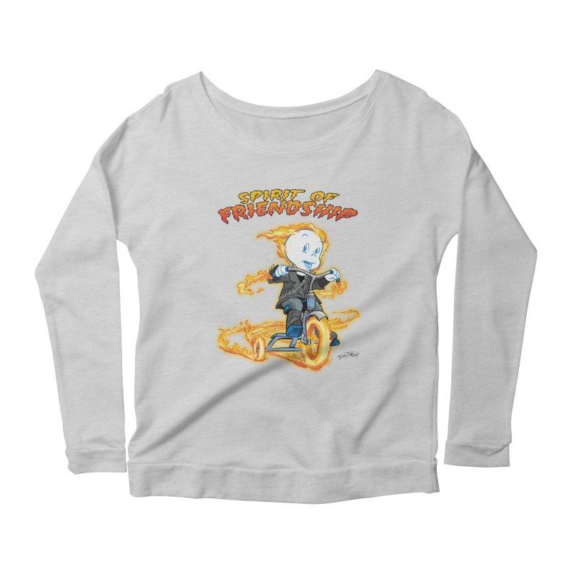 Spirit of Friendship Women's Scoop Neck Longsleeve T-Shirt by Twin Comics's Artist Shop