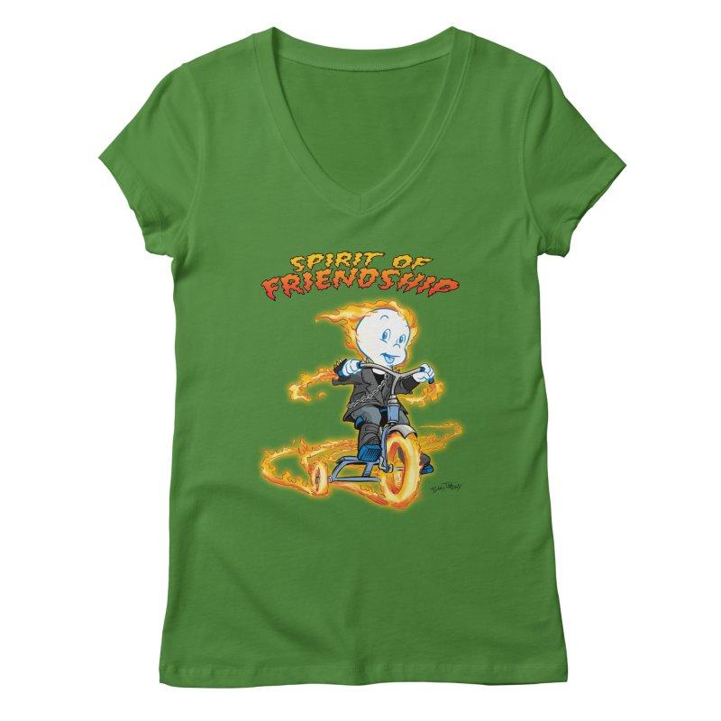 Spirit of Friendship Women's Regular V-Neck by Twin Comics's Artist Shop