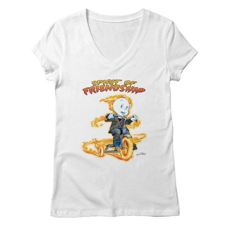 Spirit of Friendship Women's Regular V-Neck by Twin Comics's Artist Shop