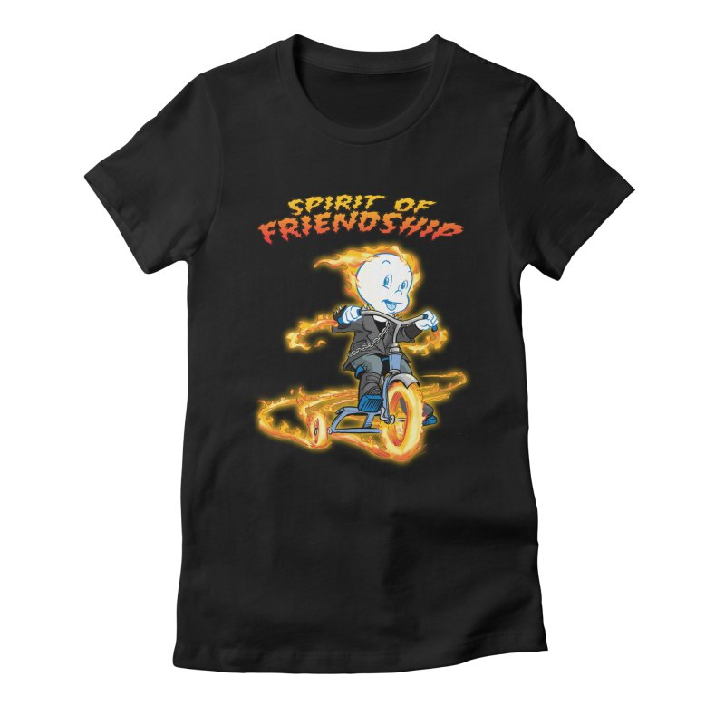 Spirit of Friendship Women's Fitted T-Shirt by Twin Comics's Artist Shop