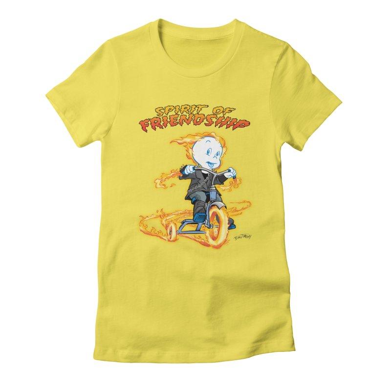 Spirit of Friendship Women's Fitted T-Shirt by Twin Comics's Artist Shop