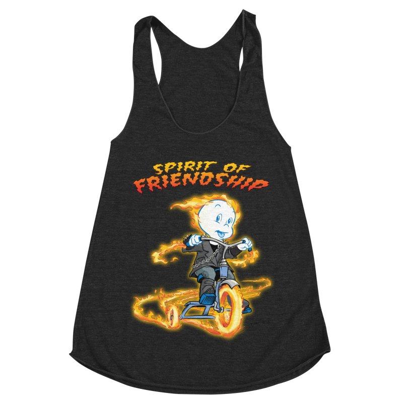 Spirit of Friendship Women's Racerback Triblend Tank by Twin Comics's Artist Shop
