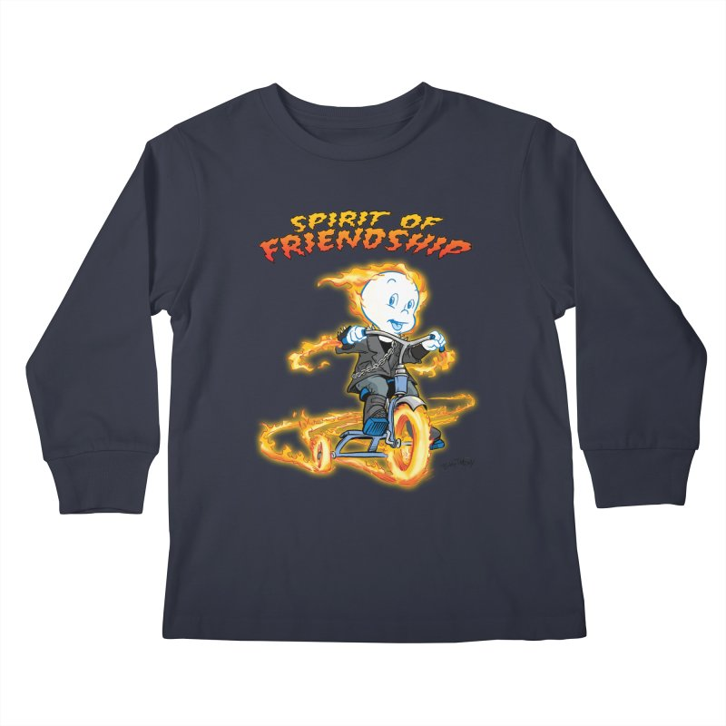 Spirit of Friendship Kids Longsleeve T-Shirt by Twin Comics's Artist Shop