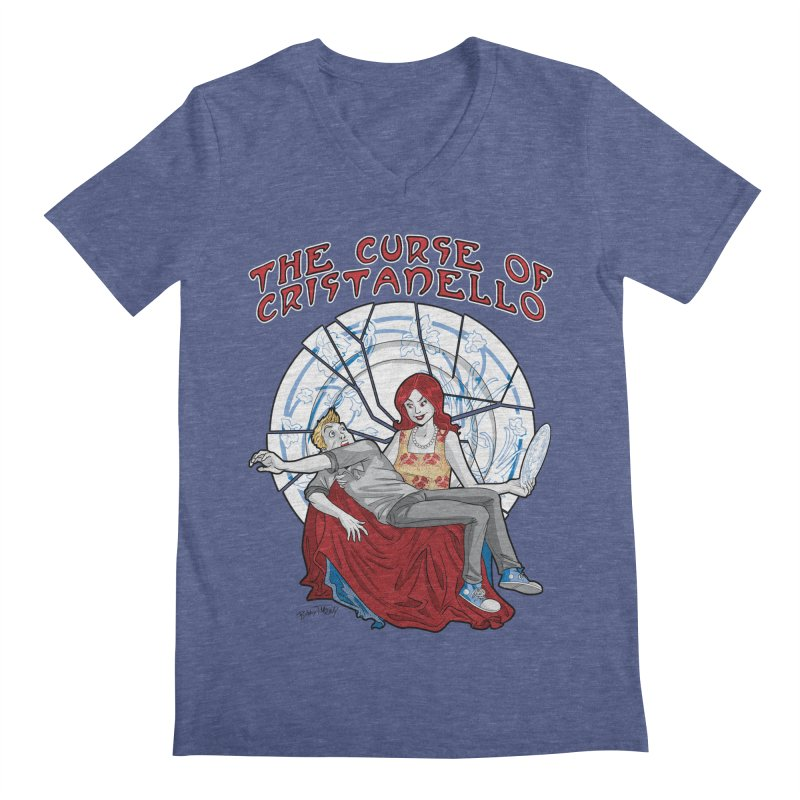 The Curse of Cristanello Men's Regular V-Neck by Twin Comics's Artist Shop