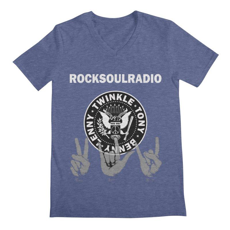 RSR logo Men's Regular V-Neck by Twinkle's Artist Shop