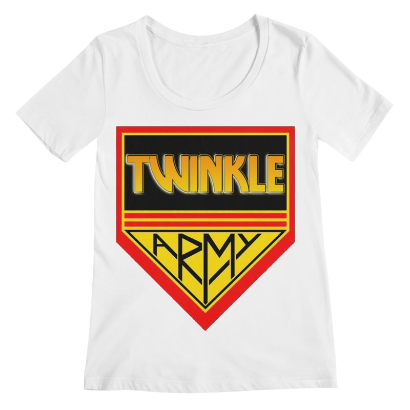 Twinkle Army Women's Regular Scoop Neck by Twinkle's Artist Shop